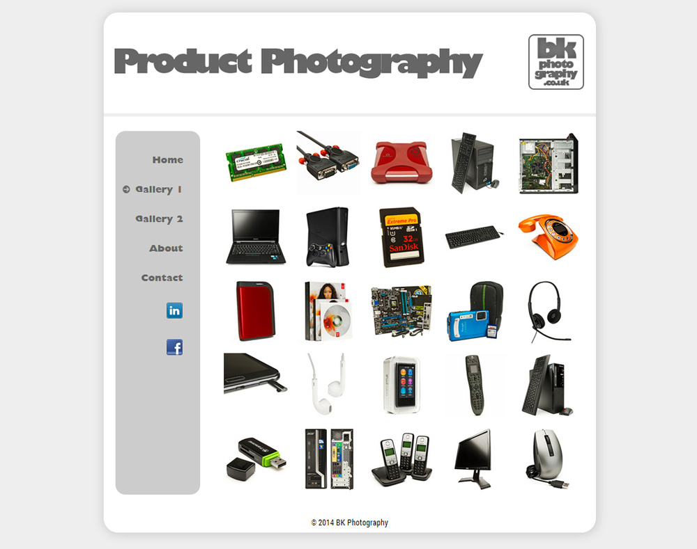 BK Photography Gallery Page
