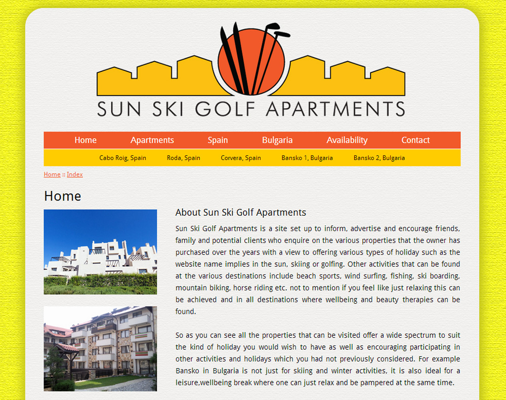 Sun Ski Golf Apartments Home Page